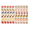 GOMMETTES 24 PLANCHES FRUITS - 720 GOMM.