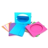 LOT DE 10 CARTES CARTON 250G/M² À CUSTOMISER - 29,7 X 14,8 CM - 3 VOLETS + ENVELOPPES PAPIER 80G/M² - 10 X 15 CM - 10 COLORIS ASSORTIS