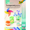 PAPIER TRANSPARENT COLORES A4 - 10F