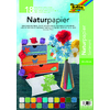 PAPIER NATURE 23X33CM 18F COLORIS ASSORTIS